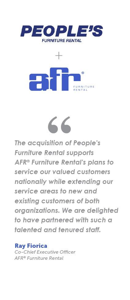 Afr Furniture Rental Acquires People S Furniture Rental Expands