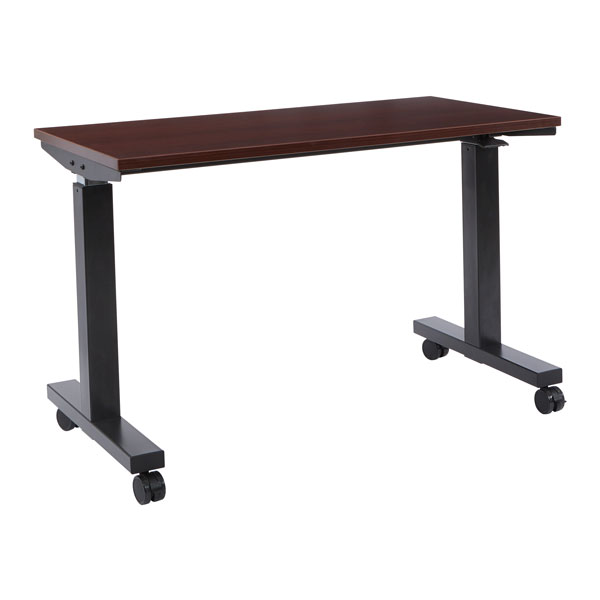 Phat Sit-Stand Adjustable Height Table 60-inch - Mahogany
