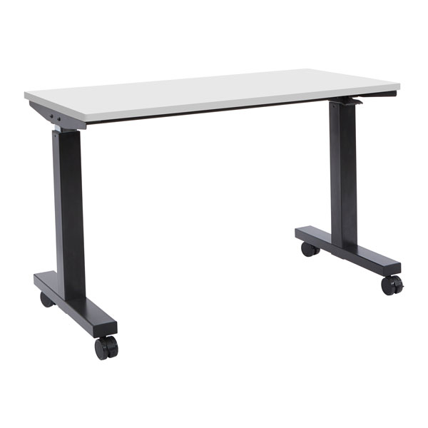 Phat Sit-Stand Adjustable Height Table 60-inch - White