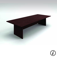 10' Conference Table (Figured Mahogany)