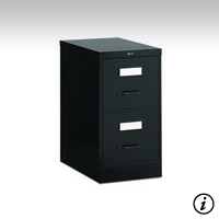2 Drawer Black Vertical File