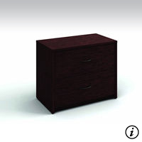 2 Drawer Lateral File (Figured Mahogany)
