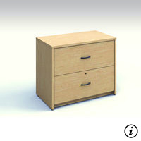 2 Drawer Lateral File (Tiger Maple)