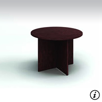 """42"""" Conference Table  (Figured Mahogany) Rental"""