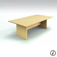 8' Conference Table  (Tiger Maple)