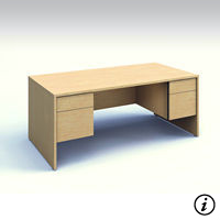 Executive Desk (Tiger Maple)