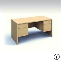 Jr. Executive Desk (Tiger Maple) Rental