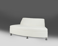 Continental Madras Reverse Curved Loveseat