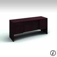 Storage Credenza (Figured Mahogany) Rental