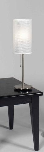 White Moire Table Lamp Rental